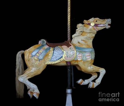 Palomino Carousel Horse Poster by Cindy Lee Longhini