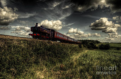 Pannier Tank On The North Norfolk Poster by Rob Hawkins