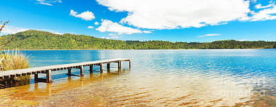 Panorama Lake Poster by MotHaiBaPhoto Prints