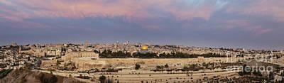Panoramic View Of Jerusalem Poster by Noam Armonn