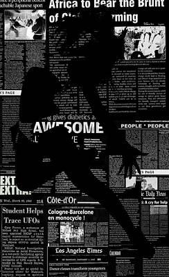 Paper Dance Poster by Naxart Studio