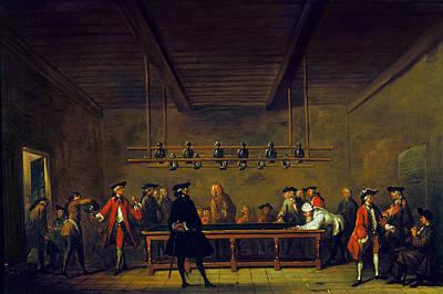 Paris: Billiards, 1725 Poster by Granger