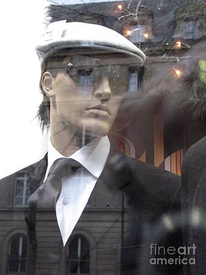 Paris High Fashion Male Mannequin Art  Poster by Kathy Fornal