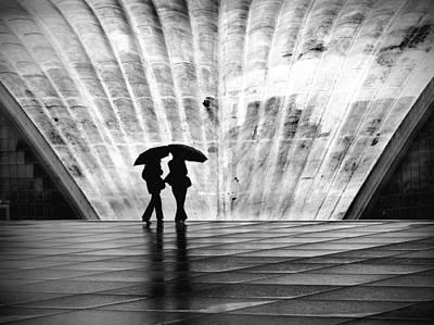 Paris Umbrella Poster by Nina Papiorek