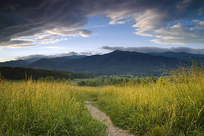 Parting Clouds At The Smokies Poster by Andrew Soundarajan