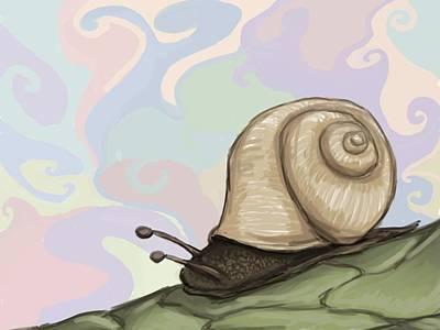 Pastel Slug Poster by Mario Domingues