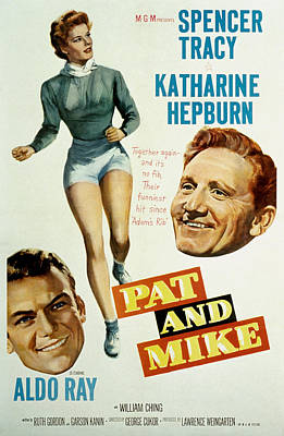 Pat And Mike, Aldo Ray, Katharine Poster by Everett