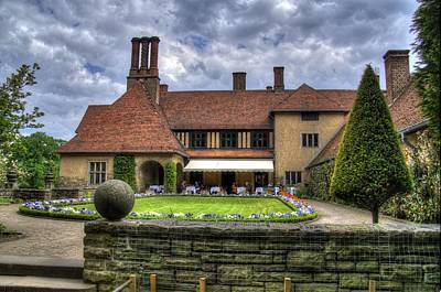 Patio Restaurant At Cecilienhof Palace Poster by Jon Berghoff