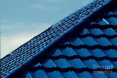 Pattern Of Blue Roof Tiles Poster by Antoni Halim