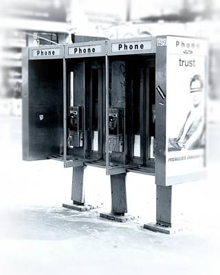 Pay Phones - Still In Nyc Poster by Angie Tirado-McKenzie