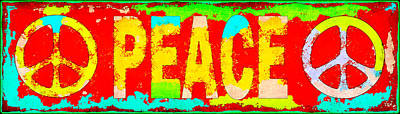 Peace Poster by David G Paul