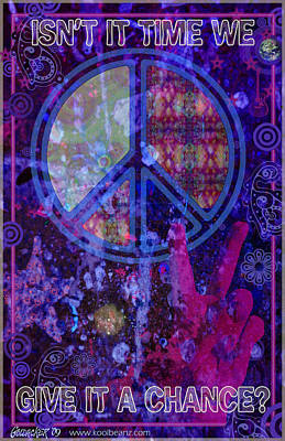 Peace Poster by John Goldacker