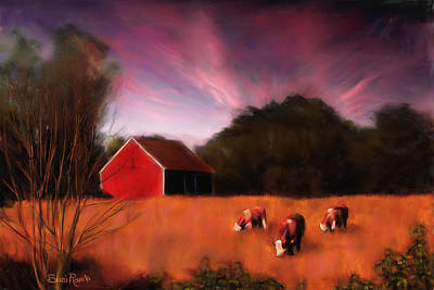 Peaceful Pasture Poster by Suni Roveto