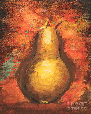Pear Center Poster by Ann Sokolovich