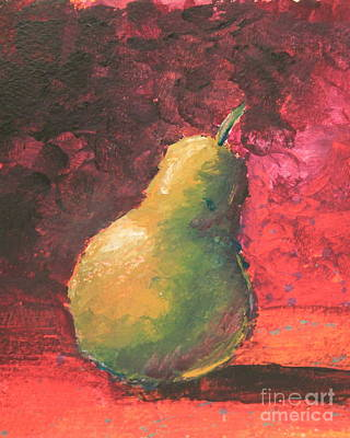 Pear Left Poster by Ann Sokolovich