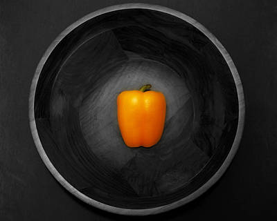 Pepper In Bowl Poster by Obi Martinez