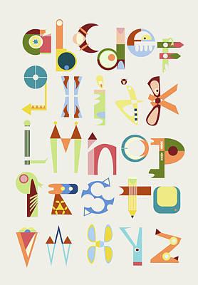 Phantasy Alphabet Poster by Elke Vogelsang