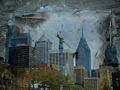 Philadelphia Skyline Poster by Mother Nature