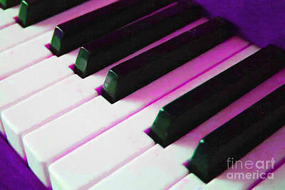 Piano Keys . V2 . Purple Poster by Wingsdomain Art and Photography