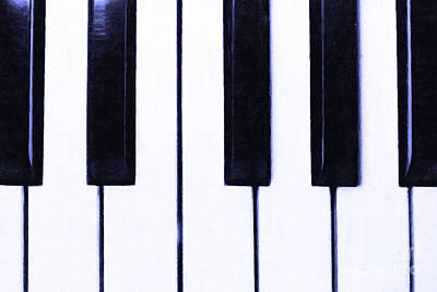 Piano Keys Poster by Wingsdomain Art and Photography