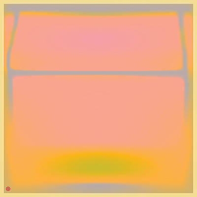 Pink Yellow And Grey Poster by Gary Grayson
