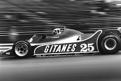 Pironi At Speed Poster by Mike Flynn