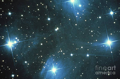 Pleiades Star Cluster Poster by Science Source