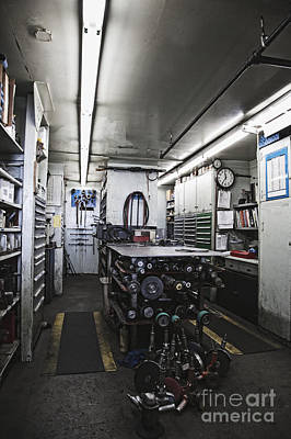 Pneumatic Tools In A Machine Shop Poster by Jetta Productions, Inc