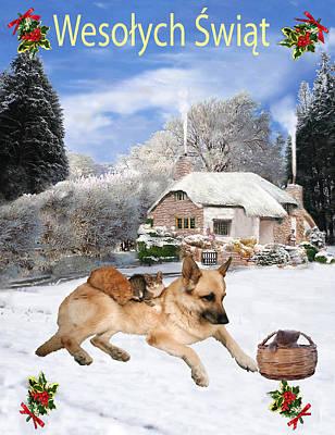 Polish German Shepherd Holiday Poster by Eric Kempson