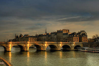 Pont Neuf  At Sunset, Paris, France Poster by Avi Morag photography