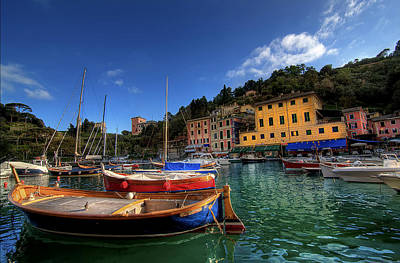 Portofino Harbor Poster by Photo Art by Mandy