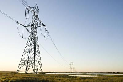Powerlines Jepson Prairie Preserve Poster by Sebastian Kennerknecht
