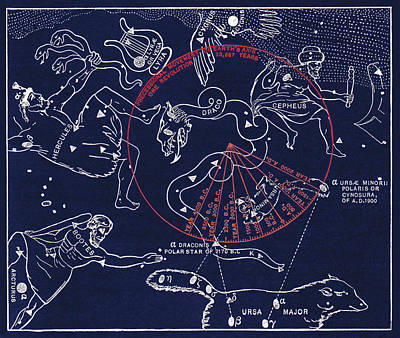 Precession Of The North Celestial Pole Poster by Sheila Terry