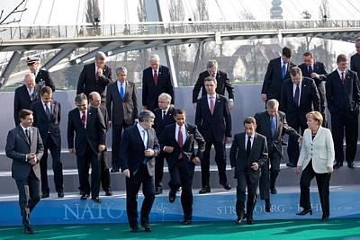 President Obama Nato Secretary General Poster by Everett