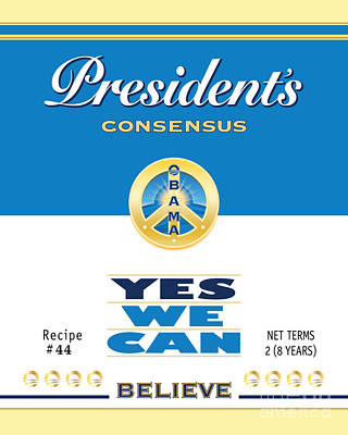 President Obama Yes We Can Soup Poster by NowPower -