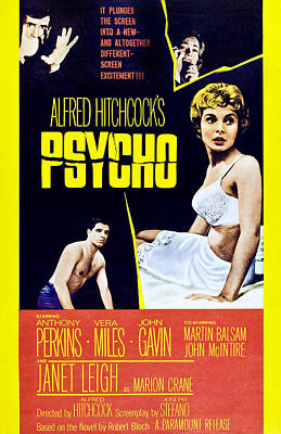 Psycho, Clockwise From Top Left Anthony Poster by Everett