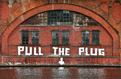 Pull The Plug Poster by Aurica Voss