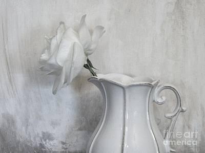 Pure White Poster by Marsha Heiken
