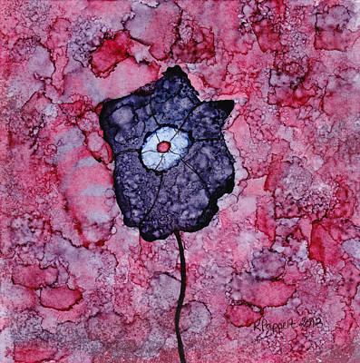Purple Flower Splash Poster by Karen Pappert