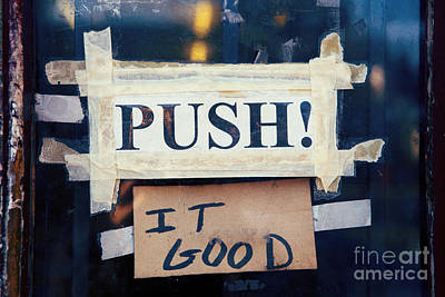 Push It Good Poster by Kim Fearheiley