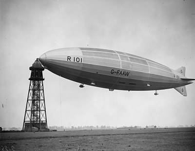 R 101 Moored Poster by Fox Photos