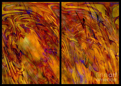 Radiant And Warm - Abstract Art Poster by Carol Groenen