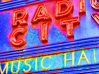 Radio City Music Hall Poster by Mike OBrien