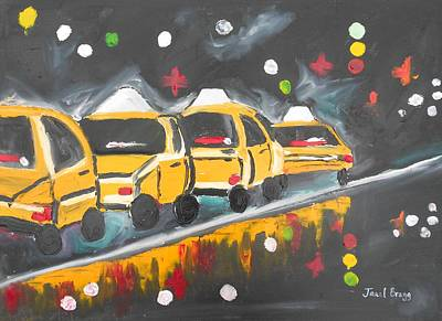 Rainy Park Avenue Second Version Poster by Janel Bragg