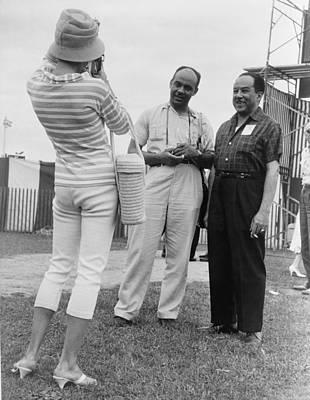 Ralph Ellison And Langston Hughes Poster by Everett