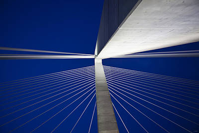 Ravenel Overhead Night - Horizontal Poster by Donni Mac
