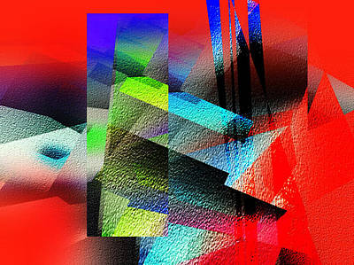 Red Abstract 1 Poster by Anil Nene
