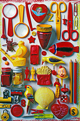 Red And Yellow Objects Poster by Garry Gay