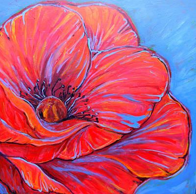 Red Poppy Poster by Jenn Cunningham