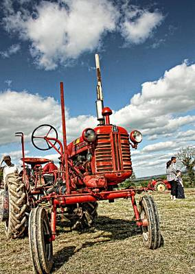 Red Tractor Poster by Julie Williams